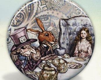 Alice at The Mad Tea Party Pocket Mirror