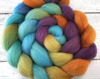 Handpainted Polwarth Wool Roving - 4 oz. ARIZONA - Spinning Fiber
