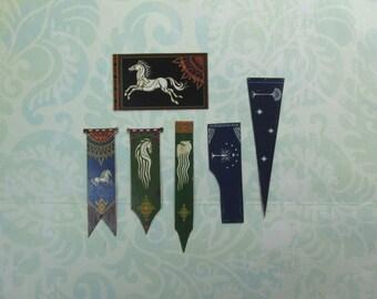 Dollhouse Miniature Set of Rohan and Gondor Flags