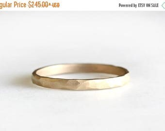 ON SALE 14k gold rustic carved band, 14k gold ring, wedding band, everyday ring, solid recycled 14k gold, wedding ring, recycled wedding ban