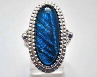 Vintage Ring - Sarah Coventry Capri Vintage Ring - Size 7 Ring - 1970's Sarah Coventry Vintage Jewelry - Blue Silvertone Ring