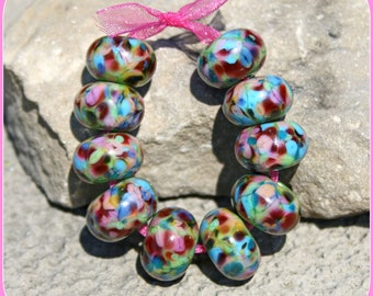 Hot Springs lampwork bead set