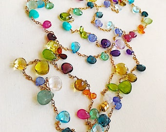 Gemstone Menagerie Chain Necklace