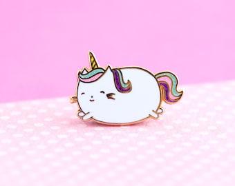 Unicorn Enamel Pin, cute enamel pin cat pin