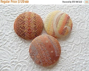 CLEARANCE - Orange buttons, yellow buttons, rust buttons, fabric covered buttons , size 75 buttons