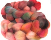 Hand Dyed Texel Wool 100g 3.5oz Combed Wool Top Spinning Yarn Felting Fibre  Tx96