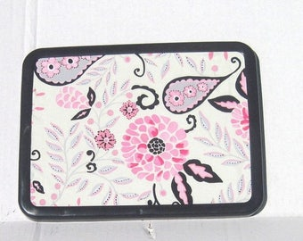 July 4th Sale Pink And Black Paisley Magnetic Board Magnetic Bulletin  Board Magnet Board Magnetic Memo Board 8x11 Girls Bedroom Decor