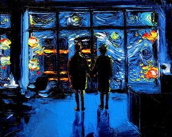 RESERVED Fight Club 20x20 print - Starry Night print van Gogh Never Watched The World Burn by Aja