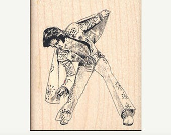 Elvis rubber stamp   Rubber Stamp  new, old stock stamp, no longer produced