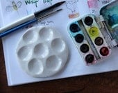 Paint Palette, for watercolor or acrylic, travel size, mini, portable