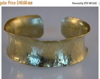 Moving Sale 40% Off Gold Brass Hammered Bracelet