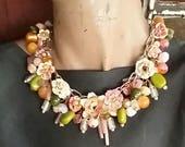 Narcissus, a Springtime Necklace Celebration from Wendy Baker