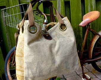 US Mail - Open Tote - Americana Upcycle Vintage OOAK Canvas & Leather Tote... Selina Vaughan Studios