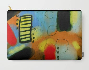 Original Abstract Art Clutch Bag Purse Handbag Carry All Pouch Cosmetics Bag