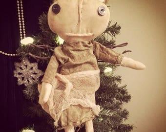 CustomerAppreciationSale Primitive Doll Angel Barb Wire Wings