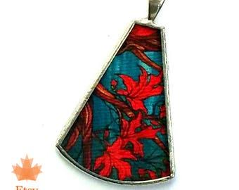 Artist Series Shi Pendant in Maple Twist print by April Lacheur
