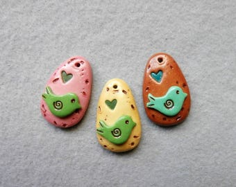 Bird Charms in Polymer Clay - Birds - and more birds!