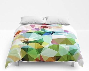 Bed Cover, Queen Bedding, Art Bedding, Queen Comforter, Geometric Bedroom, Art Blanket, King Bed Cover, Modern Bedding, Geometric Blanket
