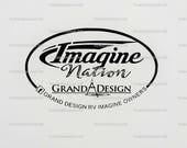 LARGE DECAL - Grand Design RV Owners Group Camping, Camper, trailer decal by Howard Avenue