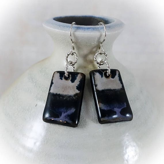 Rothko Inspired - Art Tile Earrings 8