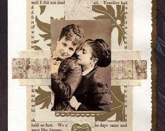 Lesbian Love Wedding Collage Card To Have and To Hold