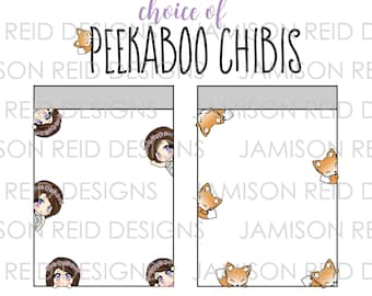 Chibi Girl Peekaboos - Please Read Listing Details