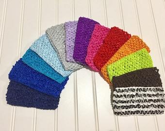 "Crocheted 2 3/4"" Headbands by the dozen"