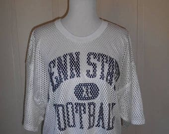 Closing Shop 40%off SALE PENN STATE Xl Football       mesh jersey    Nittany Lions Vintage top shirt mesh    majestic tag