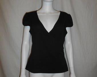 Closing Shop 40%off SALE 90's Minimalist BCBG black top shirt blouse
