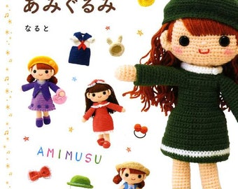 Let's Make a Crochet Doll AMIMUSU and her Crochet Costumes - Japanese Craft Book