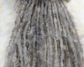 Handspun Yarn Natural Gray Cotswold Wool Bulky Lock Spun 46 yards natural light gray