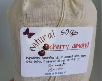 Homemade Soap, Organic Soap, Natural Soap, Handmade Soap, Cold Process Soap, Cherry Almond