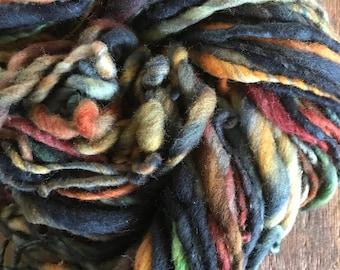 River Rock - handspun bulky yarn, 90 yards, bulky yarn, rustic art yarn, chunky yarn, wool handspun yarn