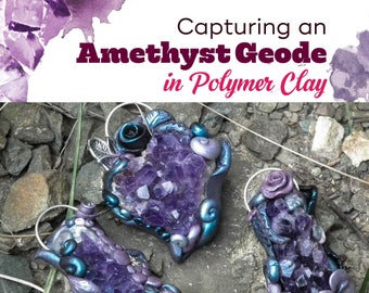 TUTORIAL: Amethyst & Clay Flower Pendant (Polymer Clay Pendant Instructions)