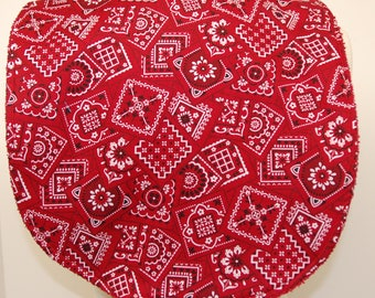 Youth/Junior Unisex Bib, Special Needs, Cerebral Palsy, Drooling, Epilepsy, Seizure, 14-inch neck opening: Red Bandanna