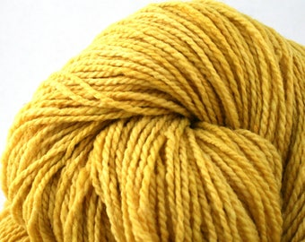 Mohonk Hand Dyed sport weight NYS Wool 370 yds/ 338 m 4oz/ 113g Lemondrop
