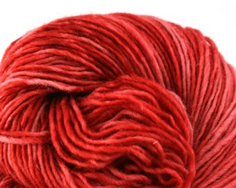 Valkill Hand Dyed DK weight NYS Wool 252yds/ 230m ~4oz/113g Lipstick