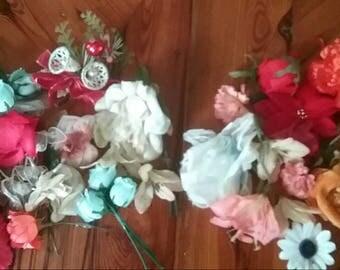 Large Lot Vintage Corsages Pins Flowers