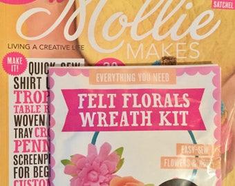 Mollie Makes Magazine - Send Us A Tweet - Issue 80 - With Felt Florals Wreath Kit - 11.00 Dollars