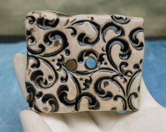 Button Hand Crafted Large Porcelain Artisan
