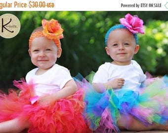 SUMMER SALE 20% OFF Girls Tutu, Birthday Tutu, Design Your Own Custom 8'', sizes newborn up to 5T