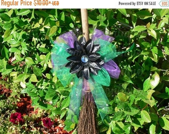 SUMMER SALE 20% OFF Custom Witch Broom Decoration, Made to Match Witch Tutu Costume, Broomstick Not Included, Decoration Only