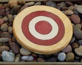 Bullseye toy wooden shield