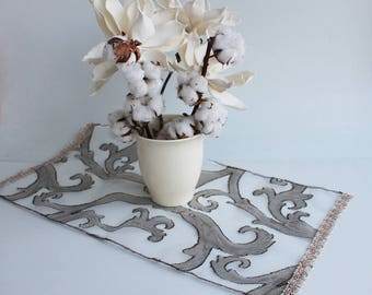 """RESERVED-Decorative small  table cloth  25""""x 13"""", ready to ship"""