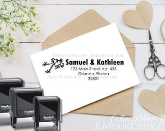 Self Inking Custom Rubber Stamp JLMould, Business Please Handle with Care Stamp, Snail Mail,  Stamp Logo,  Logo Stamp, Mailing Packages 1074