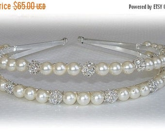 ON SALE 20% OFF Double Bliss and Pearl Tiara