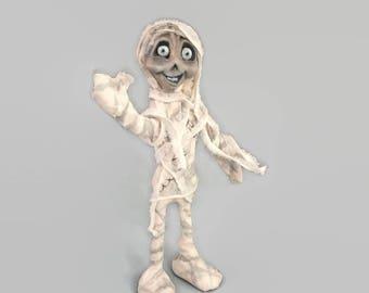 Mummy, Hand sculpted Mummy, Mummy Art Doll, Halloween Decoration Mummy, Halloween Year Round, Mummy Art, Mummy Sculpture,  Halloween Art