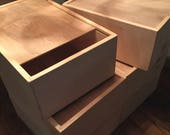 Wood Boxes with sliding lids