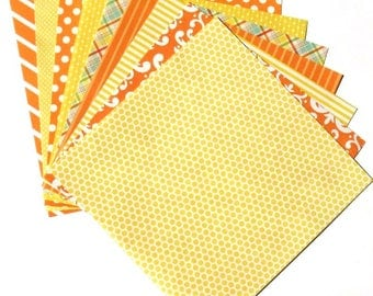 Citrus Yellow - 6x6 Recollections Home Basics Paper Pack