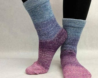 Mistress of Myself Panoramic Gradient Matching Socks Set Yarn, dyed to order - pick your size, pick your yarn base